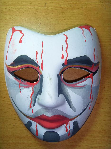 主DIY 纸浆彩绘面具 圣诞面具 万圣节面具 可以定做哦