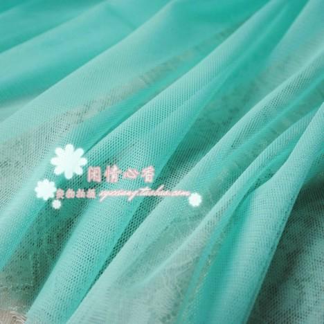 水绿加密软网纱布料 服装面料,8元1米,网纱蕾丝,纱裙婚纱布,网布图片