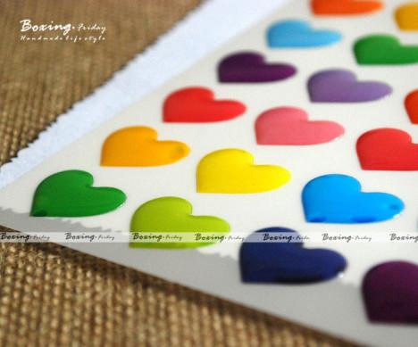 限量版 韩国原装立体装饰贴纸 糖果心形 红心 字母多款选