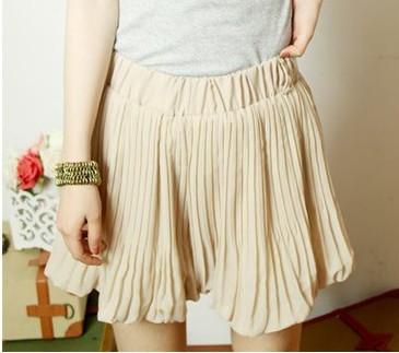 褶短裤 裙裤 高腰短裤 热裤 灯笼裤
