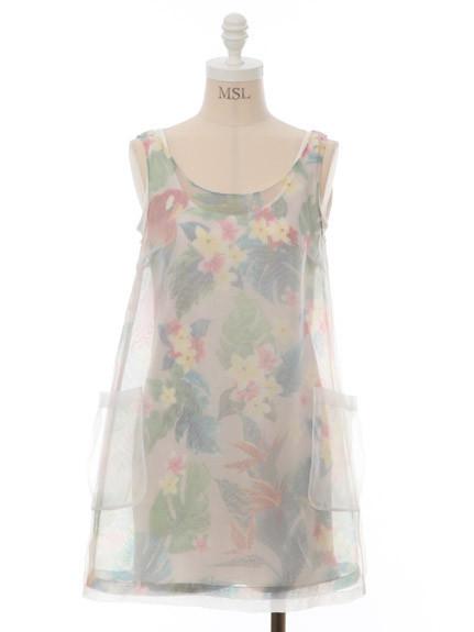 springtime欧亨利-6折 粉色甜心日本直送lilybrown 朦胧印花无袖连衣裙