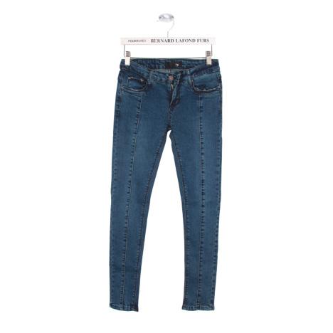 Fancystyle总是很萝莉范儿哟 -清仓季 小脚裤铅笔牛仔裤 复古蓝裤子 女