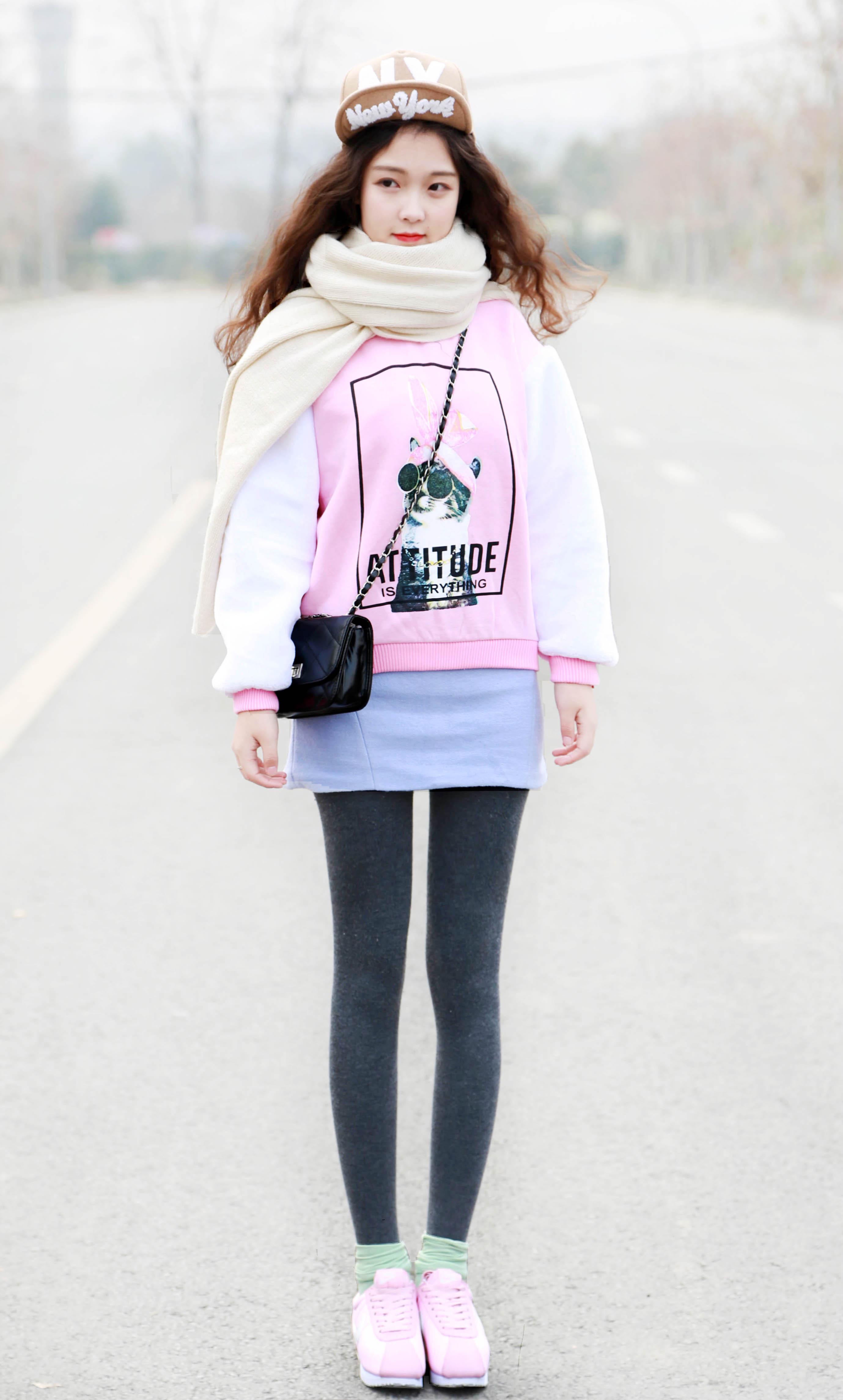 穿粉色的二爷#最近觉得粉色和蓝色搭配超好看!新的.