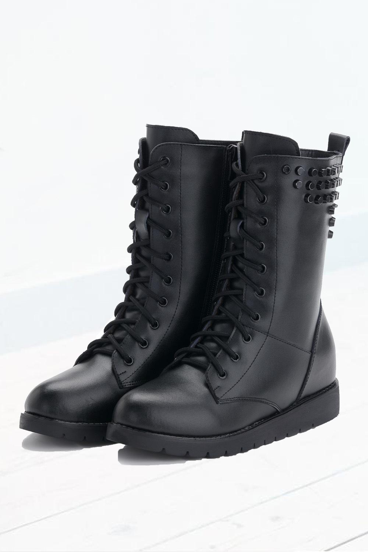 【图】真皮系带平底马丁靴搭配/价格-海妹-寻购网
