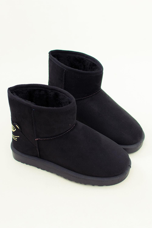 【图】简约磨砂皮休闲拼接短款雪地靴搭配/价格-伱